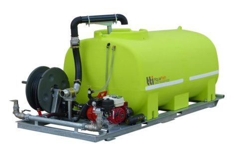 TTI Aquapath portable water tank hose reel and pump