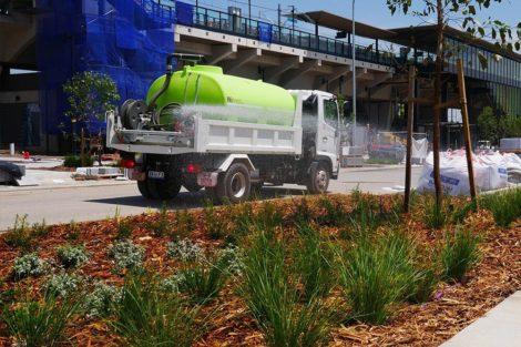 Truck mounted water tanks